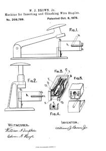 Acme Staple Patent #208789