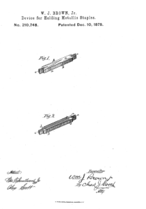 Acme Staple Patent #210748