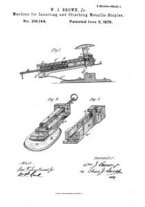 Acme Staple Patent #216144